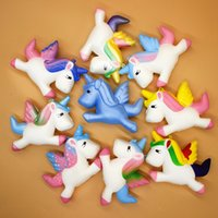 Wholesale Unicorn Soft Toys - 9 Colors Squishy Pegasus Unicorn Jumbo Cartoon Slow Rebound Rising Super Soft Simulation Squeeze Stress Reliever Decompression Toy AAA166