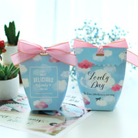 impresión de bolsas kraft al por mayor-Flamingo Wedding Kraft Bolsas de papel Bolsa de estampado de dibujos animados Candy Favors Embalaje de la gota de agua Papel de regalo con Flower Color Table Decor 0 6yr jj