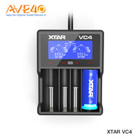 Wholesale mh charger for sale - Group buy Orginal Xtar VC4 Battery Charger Quad Slot Intelligent Charger with LCD Display for Li ion Batteries Ni MH battery