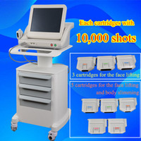 Wholesale Lifting Machines - Medical Grade HIFU High Intensity Focused Ultrasound Hifu Face Lift Machine Wrinkle Removal With 5 Heads For Face And Body