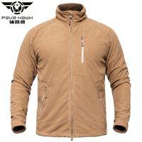 Wholesale military jacket liner - Pave Hawk US Tactical Fleece Jacket For Men Warm Lightweight Military Jackets Spring Autumn Fleece Elastic Polar Liner Army Coat