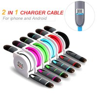 Wholesale android brand smartphone - Telescopic Micro Usb Sync Date Charger Cable For Samsung LG Universal HTC SONY V8 Charging Line Android Smartphone Cell Phone Cables