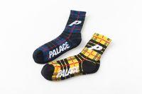 Wholesale Yellow Ankle Socks - 2 Colors yellow blue socks Outdoor Skateboard sport socks for men women P street socks unisex