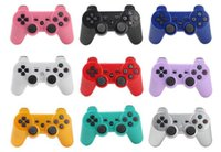 Wholesale D Shock - 50X PS3 controllers Wireless Controller Game Controllers Double Shock playstation PS 3 without retail box High Quality D-JYP