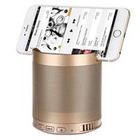 Wholesale bluetooth phone base - wholesale DHL HFQ3 bluetooth speaker 1200mah powerful phone mount base mini portable speaker metal 5W 3D stereo phone speaker