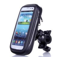 ingrosso supporto per telefono cellulare impermeabile per moto-Custodia impermeabile per telefono cellulare moto bicicletta con supporto manubrio Supporto per manubrio bici moto HHA61