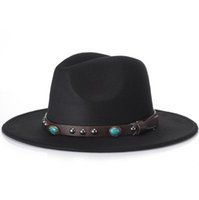 ingrosso cappelli da sole coreani per le donne-Cappelli di lana casuali dei cappelli di lana dei cappelli di lana di Fedora dei cappelli di stile degli uomini d'avanguardia unisex largo cappello del cappello di Panama del bordo di estate Sunhat Sunhat