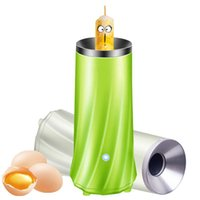 kochende tasse großhandel-Hochaktive vollautomatische Frühlingsrolle Maschine Für Frühstück 2 Farbe Multifunktions Kochen Eierbecher Hohe Qualität Küchenhelfer