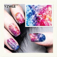 Wholesale Nail Salon Art Prints - Wholesale- Yzwle 1 Sheet Diy Decals Nails Art Water Transfer Printing Stickers Accessories For Manicure Salon (yzw-160)