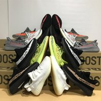 Wholesale Steel Toed Boots - 2017 Yeezys Kanye West Boost 350 Boost V2 Running Shoes For Sale Men Women Yeezy SPLY-350 Sports Shoes TAS25