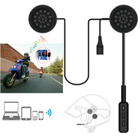 Wholesale wireless headphones helmets - WUPP Motor Wireless Bluetooth Headset Motorcycle Helmet Earphone Headphone Speaker Handsfree Music For MP3 MP4 Smartphone