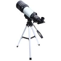 telescopios de astronomia al por mayor-venta al por mayor Telescopio Astronómico Monocular 2 Tipos de Plata Telescopios Espaciales Profesionales con Trípode Lente Paisaje para Astronomía