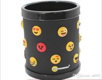 kupalar satışı toptan satış-Emoji Sevimli Yüz PVC Kupa 3D Anaglyph İfade Fincan Faydalı Mutfak Malzemeleri Içme Araçları Yeni Sıcak Satış 10ct ii