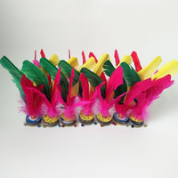 Wholesale sports cars sale online - Feather Shuttlecocks Motion Bodybuilding Student Sport Toys Flower Shuttlecock Multicolor Sports Goods Adult Match Hot Sale hy7 W