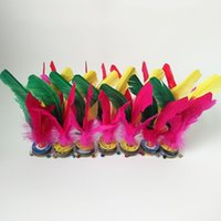 erwachsene spielzeug verkauf großhandel-Federbälle Bewegung Bodybuilding Student Sport Spielzeug Flower Shuttlecock Multicolor Sportartikel Adult Match Heißer Verkauf 0 63hy7 W