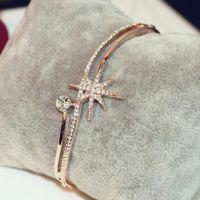 Wholesale geometric bracelets for sale - New style fashion street style European crystal Personality lady bracelet sweet simple jewelry geometric hand bracelet female hot sale