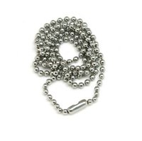 Wholesale Stainless Steel Neck Chains - steel chain stainless steel chain for dog tag ID card Neck ornament bead chain necklace