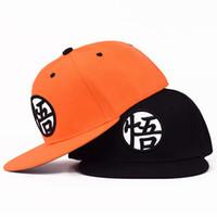 ingrosso cappelli di anime snapback-Nuovo di alta qualità Anime Cap Dragon Ball Z Dragonball Goku Snapback Hat per uomo donna regolabile Hip Hip Berretto da baseball Cool