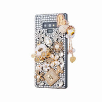 ingrosso fiore bling-Per iPhone XS max Diamond Case Bling Gem Stone Jeweled TPU Phone Case per iPhone XR XS 8 Plus Love Blooming Flower Cover Case
