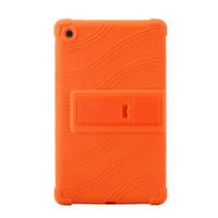 gummi-schutzhüllen für tabletten großhandel-50pcs weiche Silikon-Gummi-TPU rückseitige Abdeckung für Huawei Mediapad M5 8.4 SHT-AL09 SHT-W09 8.4-Zoll-Tablette schützende Beutel-Beutel-Kasten-Standplatz