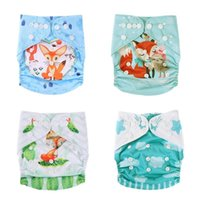 Wholesale waterproof baby cloth diapers for sale - Group buy 0 T Baby Reusable Breathable Waterproof Nappies Cartoon Print Diaper Cloth