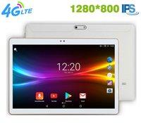 ingrosso android della tabella del pc-Spedizione gratuita 10 pollici 3G / 4G LTE tablet pc Octa core Android 7.0 RAM 4 GB ROM 64 GB 1280 * 800 IPS Doppia SIM card WIFI Smart tables pc