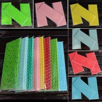 Wholesale bubble bars resale online - 19 cm Disposable Bubble Rainbow Drinking Paper Straws Dot Environment Friendly Kraft Paper Straw For Bar Birthday Wedding Party HH7