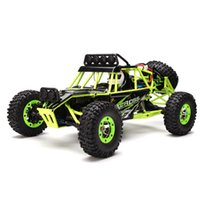Wholesale rc scale truck - wholesale 12428 RC Car 2.4G 1:12 Scale Double Speed 50KM H Remote Radio Control ElectricTrack Warrior Car RC Monster Truck Toys