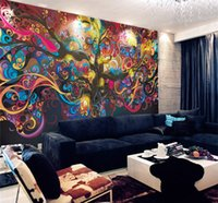 Wholesale life sounds - Stereo and large adornment picture Character abstract wallpaper tree of life Seamless non-woven silk wallpaper murals