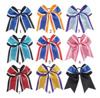 Wholesale ring hair fashion for sale - 8 design Bow hair ring rubber band fashion children s Hair Accessories for Women Girls Simple bow Hair Rope KKA6109