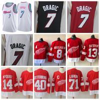 Wholesale Red Wing 13 - Detroit Red Wings Hockey Jerseys 13 Pavel Datsyuk 40 Henrik Zetterberg 71 Dylan Larkin Vice City Edition Whiteside Goran Dragic Dwyane Wade
