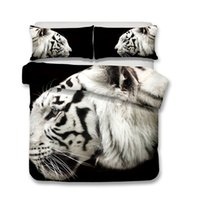 Wholesale queen size tiger bedding online - White Tiger Children s Bedding Set Full Size