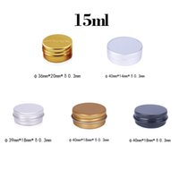 Wholesale Garage Storage Containers - 15ml Empty Aluminum Cream Jars Tins Cosmetic Lip Balm Containers Nail Derocation Cans Crafts Storage Pots Bottles
