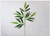 yapay ağaç yaprakları toptan satış-Yeni Tasarım 20 Adet Yapay Bambu Yaprak Bitkiler Plastik Ağaç Dalları Dekorasyon Küçük bambu plastik 20 Yapraklar Fotoğraf aksesuarları t4