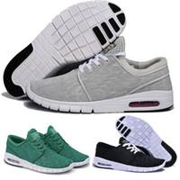 лучшие кроссовки оптовых-Nike SB Best Running Shoes Nike  Discount Shoes  Большие скидки Новые мужские кроссовки прибытия с тегом Новая мода SB Stefan Janoski Мужская и женская мода Повседневная обувь Евро 36-45 A05