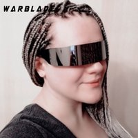703b1d1b2a ... Black Frame Wrap Sunglasses One Piece Shades Flat Top Novelty Costume  Party Funny Strange WARBLADE. 35% Off