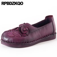 88670738bed round toe traditional chinese shoes floral flower designer china women  elderly ethnic flats large size purple ladies slip on
