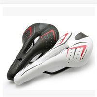 Wholesale white carbon saddle for sale - Group buy Mountain Racing Soft Seats Cushions Pu Breathable Bicycle Seat Saddle Black White Creative Removable Anti Wear Bike Saddles lw jj