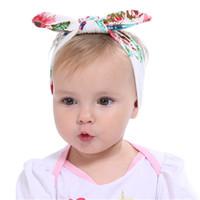 accesorio para el cabello peonía flor al por mayor-Bandas para la cabeza de las muchachas del bebé de la venda del pelo de la oreja del conejo venda del arco elástico Headwear para el bebé recién nacido Peony Flower Hair Accessories