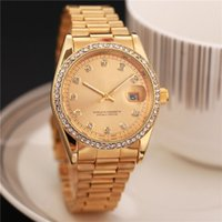 Wholesale geneva crystal watches - Luxury GENEVA Watches Womens AAA Diamonds Watches Bracelet Ladies Designer Wristwatches Crystal Dial Bracelet Quartz Wrist Watch