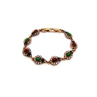 bracelet turquie achat en gros de-Chaude 2018 Bohème Bracelets Pour Femmes Tibétain Alliage Résine Or Couleur Bracelet Rétro Turquie Royal Bijoux