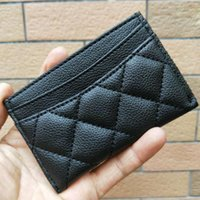 Wholesale black beauty ladies - Lichee Pattern Card Holders Beauty Counter VIP Gift Black ID Card Holder Case