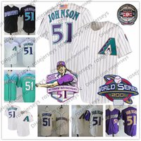 Wholesale red flags men - Arizona #51 Randy Johnson Purple Vintage Jersey 2015 HOF White Black Cream Seattle Stitched 2001 WS Retirement Patch Hall of Fame USA Flag