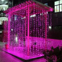 Wholesale led waterfall christmas - 6m x 3m Led Waterfall Outdoor Fairy String light Christmas Wedding Party Holiday Garden 600 LED Curtain Lights Thanksgiving Decoration