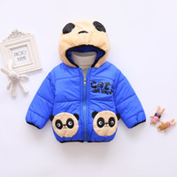 Wholesale panda clothing for baby boys for sale - Group buy Winter Kids Girls Cute Panda Pattern Coat Baby Boys Jacket Warm Cotton Hooded Outerwear For Girls Children Clothes