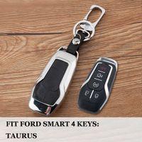 ford key case shell al por mayor-Para Ford Taurus Mustang F-150 Explorer Fusion Mondeo Edge Car Smart key fob caso cubierta de la cáscara Set Bolsa Holder