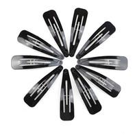 черный металлический зажим для волос оптовых-24Pcs Black Hair Clip Metal Snap 5CM Barrettes Hair Accessories Hairpins Styling Hairgrips Braiding Tools for Women Girls