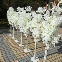 Wholesale floor stand mounts - New Arrival Cherry Blossoms Tree Road Leads Wedding Runner Aisle Column Shopping Malls Opened Door Decoration Stands
