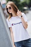 frauen s weiße t-shirts großhandel-Frauen Buchstaben Stickerei T-Shirts Weiß Baumwolle T-Shirt Sommer Oansatz Tops Slim Fit T-Shirts