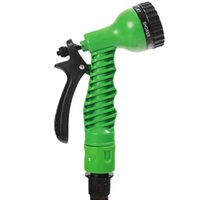 Wholesale expandable garden hose wholesale online - 2018 FT Expandable Flexible Garden Magic Water Hose With Spray Nozzle Head Blue Green with retail box
